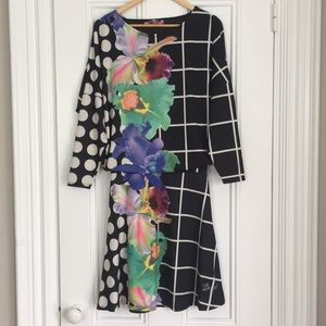 Dress with abstract pattern